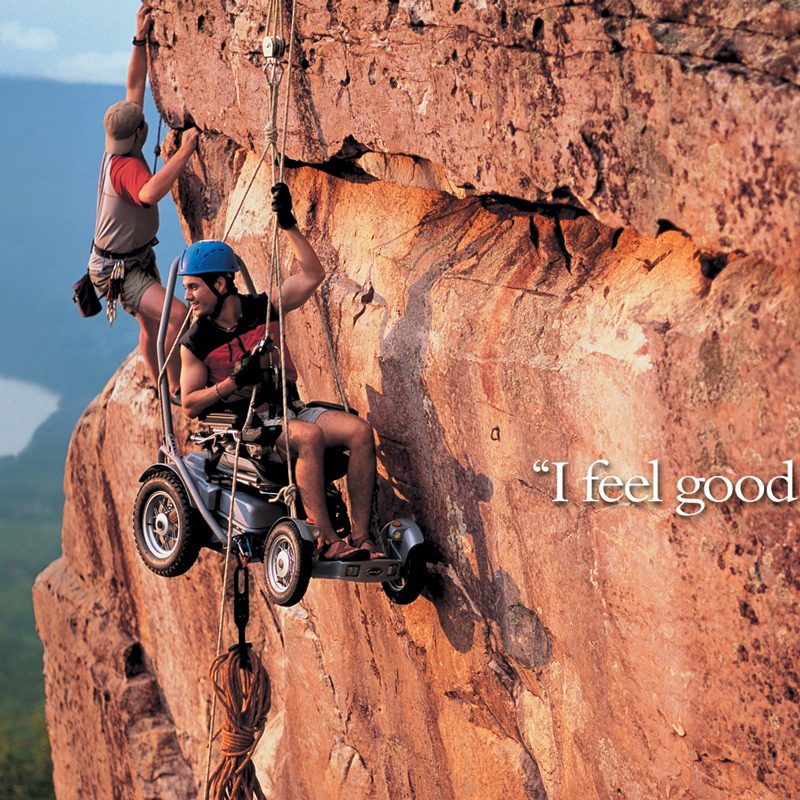 Permobil Trax Ad, Cliff Hanging